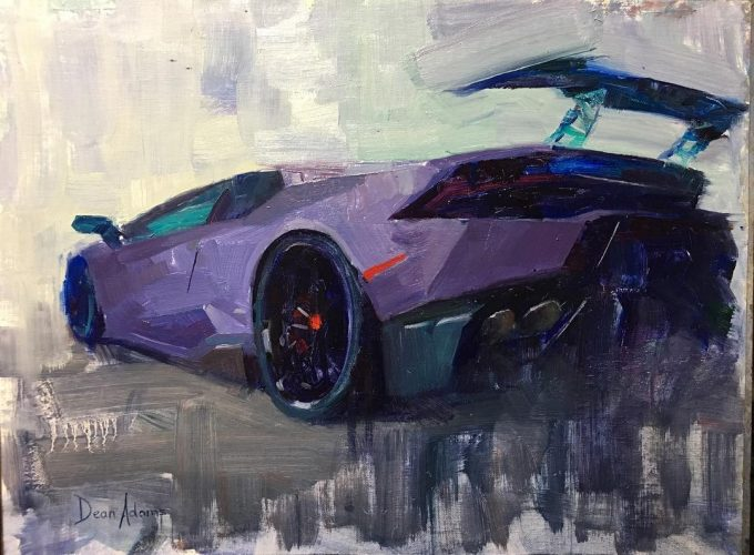 Lamborghini Huracan LP610-4 Oil Painting
