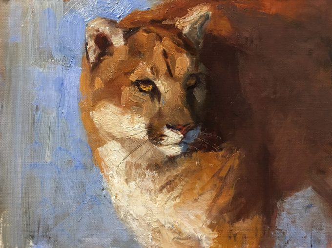 Puma/Mountain Lion painting