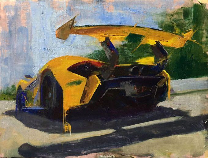 McLaren P1 GTR oil painting