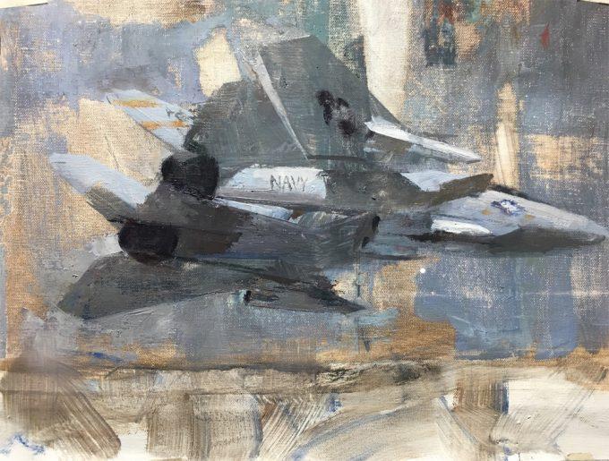 F-14 Tomcat VF-32 oil painting