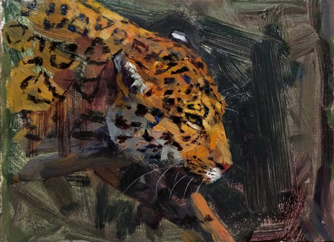 Jaguar On The Prowl Oil Painting