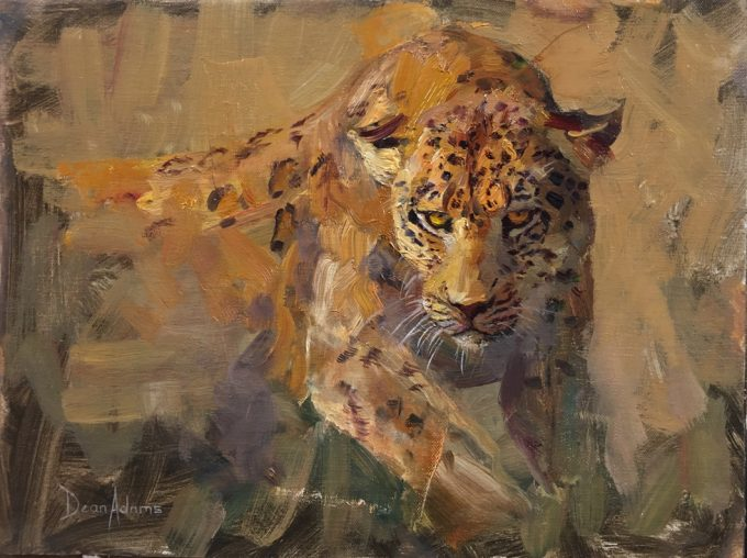 African Leopard Oil Painting